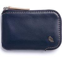 Bellroy Leather Zip Up Card Pocket, Blue Steel