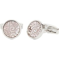 Simon Carter for John Lewis Archive Spiral Mother of Pearl Cufflinks, Silver
