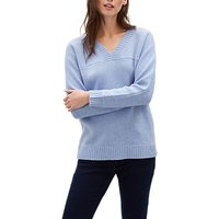 Jaeger Wool Rich V-Neck Sweater, Blue