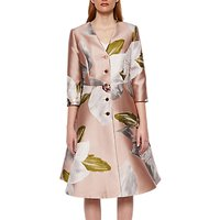 Ted Baker Chatsworth Dress Coat, Dusky Pink