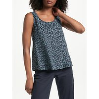 Collection WEEKEND by John Lewis Poppy Print Sleeveless Top, Navy/Blue
