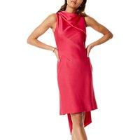 Karen Millen Asymmetric Super Train Dress, Pink