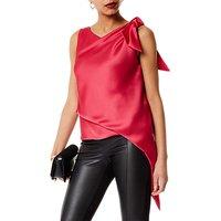 Karen Millen Knot And Drape Top, Pink