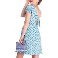 Séraphine Kailste Tie Back Maternity Dress, Blue
