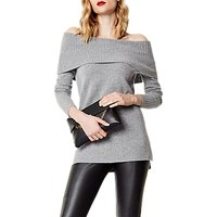 Karen Millen Slouchy Bardot Knit Jumper, Grey