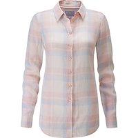 Pure Collection Check Cotton Shirt, Pastel