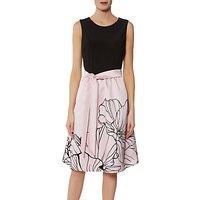 Gina Bacconi Eleanora Satin and Jersey Dress
