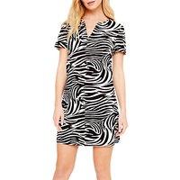 Damsel In A Dress Zebra Print Tunic Dress, Black/white