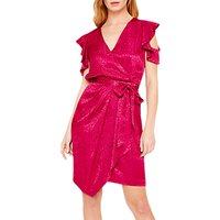 Damsel in a Dress Lexi Leopard Jacquard Dress, Magenta