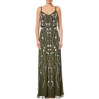 Adrianna Papell Floral Bead Blouson Gown, Olive Multi