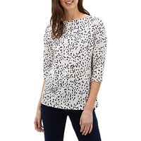 Jaeger Ditsy Print Jersey Top, Navy