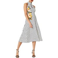 Karen Millen Floral Polka Dress, Multi