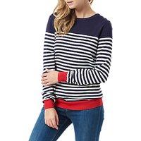 Sugarhill Boutique Nautical Stripe Sweater, Navy/Cream
