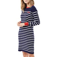 Sugarhill Brighton Evie Hearts Dress, Navy/White
