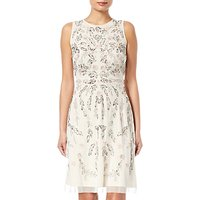 Adrianna Papell Beaded Dress, Ivory/Multi