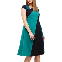 Studio 8 Michelle Colour Block Dress, Blue/Green