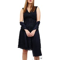 Studio 8 Flora Embroidered Dress, Navy