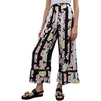French Connection Enoshima Culotte Trousers, Black/Multi
