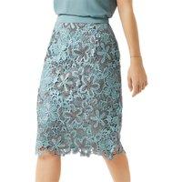 Fenn Wright Manson Petite Wren Skirt, Blue/Silver