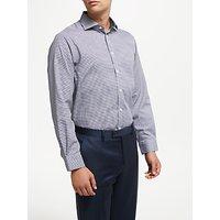 John Lewis & Partners Non Iron Gingham Regular Fit Shirt, Navy