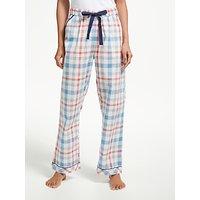 John Lewis Cora Check Cotton Pyjama Bottoms, Multi