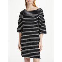 Finery Bestwood Stripe Shift Dress, Black/White