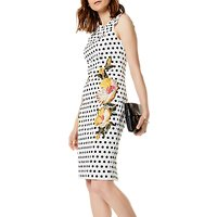 Karen Millen Polka Dot Embroidered Floral Dress, Multi