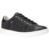 Geox Women's Jaysen Knitted Lace Up Trainers, Black