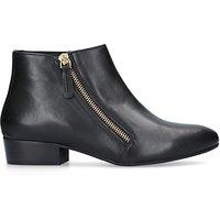 shop for Kurt Geiger London Sally Asymmetric Zip Ankle Boots, Black Leather at Shopo
