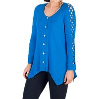 Chesca Criss Cross Tunic Top