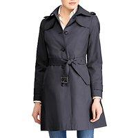 Lauren Ralph Lauren Cotton Blend Belted Trench Coat, Dark Navy
