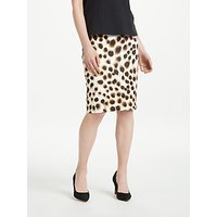 Marc Cain Cheetah Print Jersey Pull On Pencil Skirt, Cappuccino