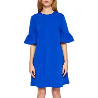 Ted Baker Elzpeth Frill Sleeve Playsuit, Mid-Blue