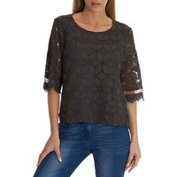 Betty Barclay Lace Top, Night Silver