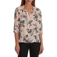 Betty Barclay Leaf Print Blouse, Rose/Khaki