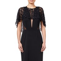 Adrianna Papell Bead Lace Cover Up, Black