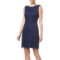 Adrianna Papell Embellished Cocktail Dress, Navy/Gunmetal