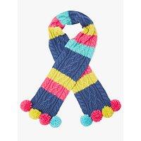 John Lewis Children's Colour Block Cable Knit Scarf, Multi