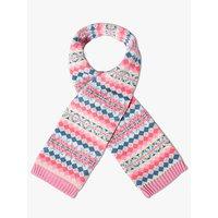 John Lewis & Partners Children's Fairisle Scarf, Pink/Multi