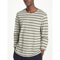 Kin Long Sleeve Striped Pique T-Shirt, White