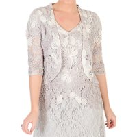 Chesca Ombre Cornelli Lace Jacket, Ivory