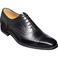 Barker Luke Leather Goodyear Welted Brogues, Black