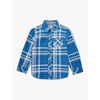 John Lewis & Partners Boys' Check Long Sleeve Shirt, Blue