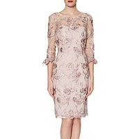 Gina Bacconi Denise Dress, Pink Gold