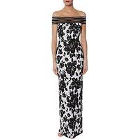 Gina Bacconi Jordana Maxi Dress, Black/White