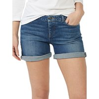 Fat Face Mini Denim Shorts, Mid Denim