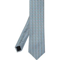 Ted Baker Carving Bow Tie Motif Silk Tie, Silver