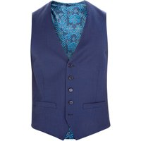 Ted Baker Rokow Sovereign Birdseye Waistcoat, Blue