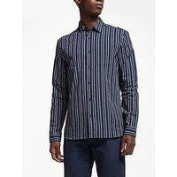 Kin Vertical Stripe Shirt, Navy