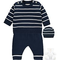 Emile et Rose Baby Noel Top and Trousers 2 Piece Set, Navy